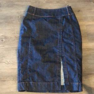 White House Black Market denim pencil skirt